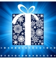 Blue burst with gift box EPS 8 vector image vector image