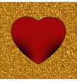 Gold frame in the shape of heart EPS 8 vector image vector image