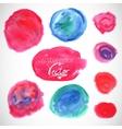 Set of watercolor blobs circle design elements vector image