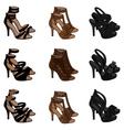 highheeled sandals vector image