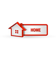House icon and button vector image vector image