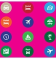 travel icons set in a flat design vector image