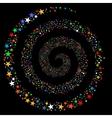 Fireworks Star Spiral vector image