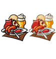 sausages and beer vector image vector image