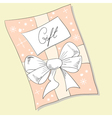 gift christmas card vector image vector image