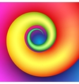 Colorful swirl shape vector