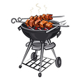 grilled kebabs vector image vector image