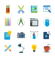 designer tool flat icon vector image