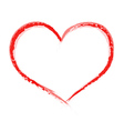 Heart shape painted with brush vector image