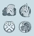 Knight helmet logo template vector image