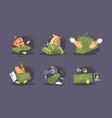 money banknotes buy and sale icon set vector image