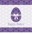 Postcard with easter egg vector image