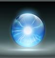 rystal ball to predict vector image