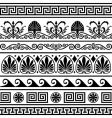 set of antique Greek borders vector image