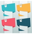 Patterned background numbered origami banners vector image vector image