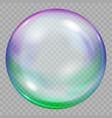 one big multicolored transparent soap bubble vector image