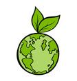 Natural world icon cartoon vector image