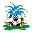 cartoon soccer icon vector image vector image