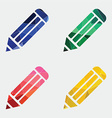 pencil icon Abstract Triangle vector image