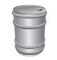 metallic barrel vector image vector image