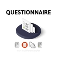 Questionnaire icon in different style vector image