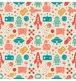 Sci-fi retro pattern vector image