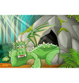 Dragon living in the cave vector image