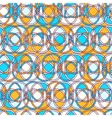 Seamless pattern with lines and circles vector image vector image