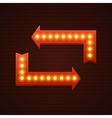 Arrows Cinema Signage Light Bulbs Frame and Neon vector image