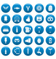 beer icons set blue simple style vector image