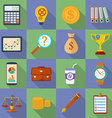 Business icon set Modern Flat style with a long vector image