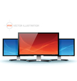 Flat lcd tv monitor vector image