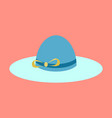 icon in flat design fashion clothes women hat vector image