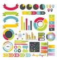 Infographic design parts icons set flat style vector image