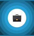 isolated briefcase flat icon portfolio vector image