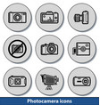 light photocamera icons vector image