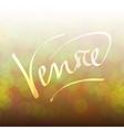 Venice lettering bokeh vector image