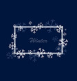 winter square frame vector image