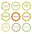 Floral frames and wreaths with flowers set vector image vector image