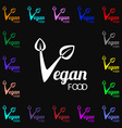Vegan food graphic design icon sign Lots of vector image