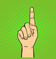 hand showing thumbs up deaf-mute gesture human arm vector image