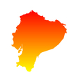 Map of Ecuador vector image vector image