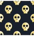 seamless pattern skulls background vector image