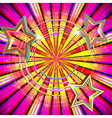 Abstract background with Light rays and stars vector image