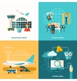Airport Icon Flat vector image vector image
