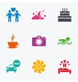 Hotel apartment service icons Swimming pool vector image