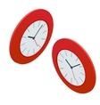 Clock isometric clock design concept vector image