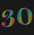Retro Stenciled Font vector image
