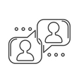 Speech bubble icon communication symbol talk vector image