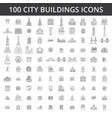 city buildings architecture real estate urban vector image